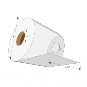 "7.5"" Exclusive TAD Roll Towel 600ft - SKU 7850T"