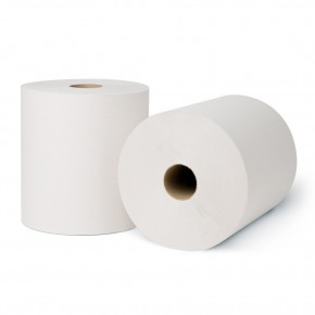 "7.5"" Exclusive White Roll Towel 800ft - SKU 7850W"
