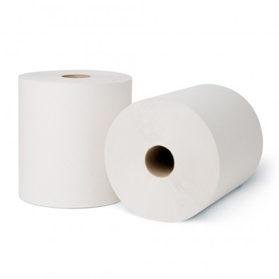 """7.5"""" Exclusive White Roll Towel 800ft - SKU 7850W"""