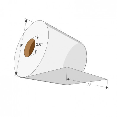 White Exclusive Hard Wound Roll Towel - SKU 40650