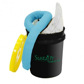 Recycled Oil-Only Spill Kit Bucket - SKU OSR304