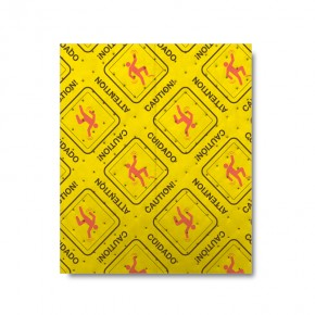 HiVis pads not only absorb spills, they bring attention with their unique printed pattern