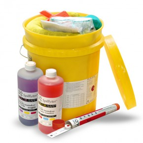 Neutralizing Spill Kit for Acids or Bases Bucket - SKU 270000