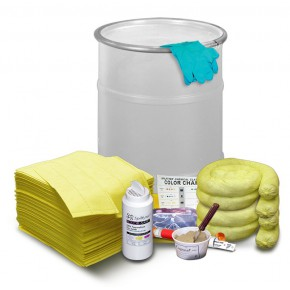 Neutralizing Spill Kit for Acids or Bases Drum - SKU 270001