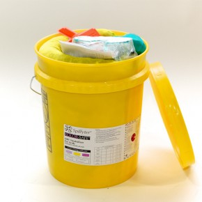 Neutralizing Spill Kit for Acids Bucket - SKU 270005
