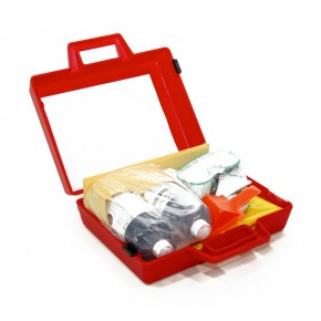 Neutralizing Spill Kit for Battery Acid Red Plastic Case - SKU 440133