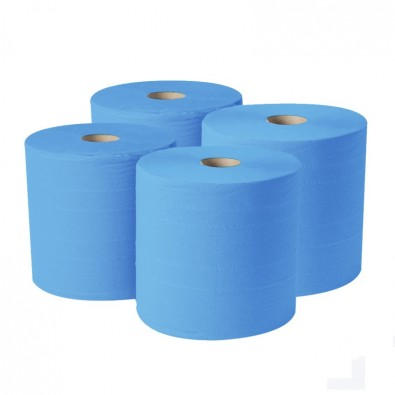 4-Ply Blue Roll Wipe - SKU 50840